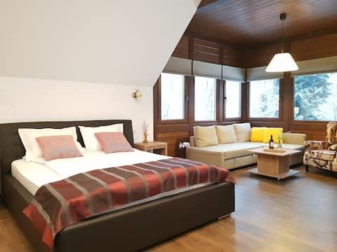 Mountain View Studio with balcony in Alfinio Villa