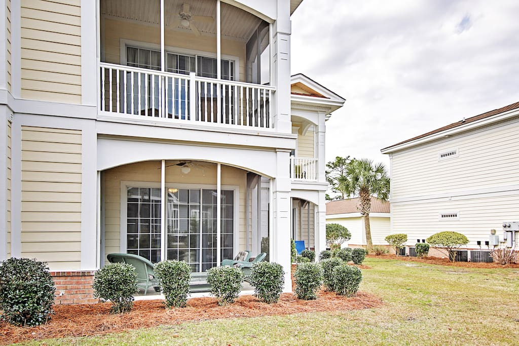 The 4-bedroom, 3-bath condo offers accommodations for 9 lucky guests.