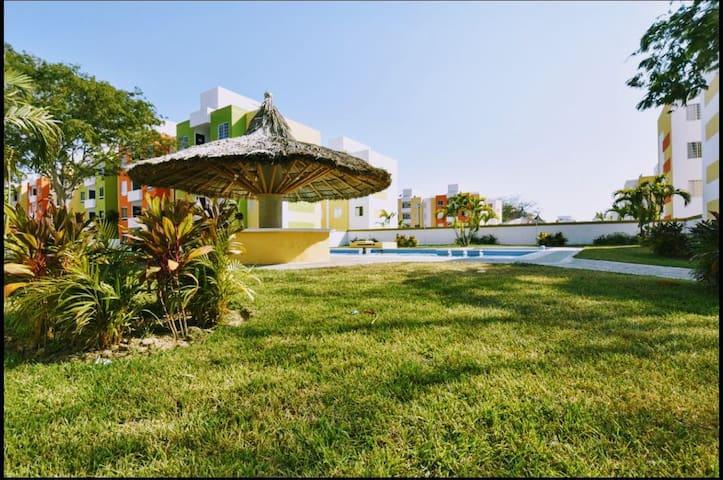 Dpto. Acapulco, Alberca, Wifi y Aire acondicionado