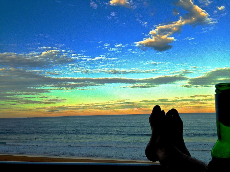 this is a photo taken from the balcony, spoiling myself, relaxing at sunset.
