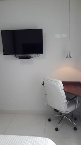 Writing Desk and television