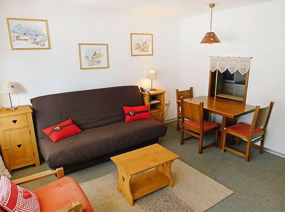 studio quip de 43 m2 am nagement fonctionnel appartements louer leukerbad wallis suisse. Black Bedroom Furniture Sets. Home Design Ideas
