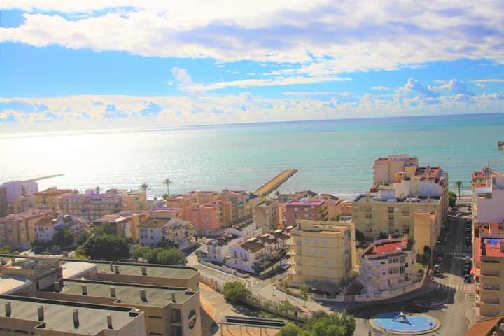 Vistas espectaculares a la playa de Santa Pola