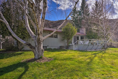 Charming White Bird Home w/Mtn & Salmon River View