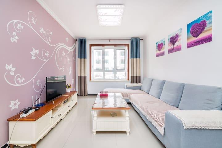 南戴河外语学院教师公寓 仙螺岛附近距海500米电梯精装两室一厅