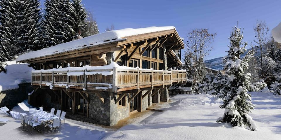 Grand chalet for 15 people in Megeve, France - Saint-Laurent-de-Mure - Chatka w górach