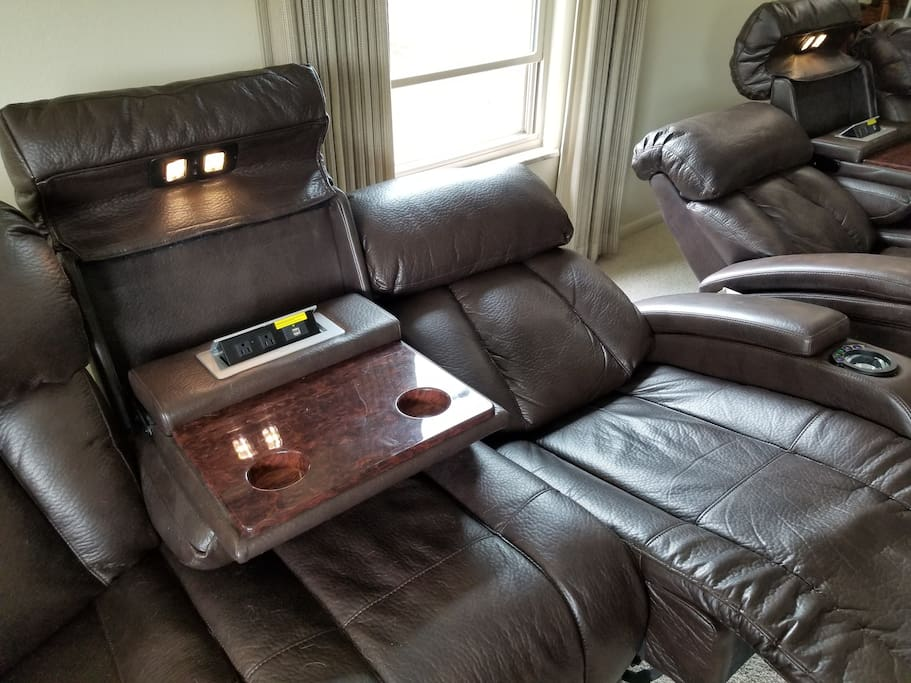 Power Reclining Seats w/ USB & Electrical Outlets