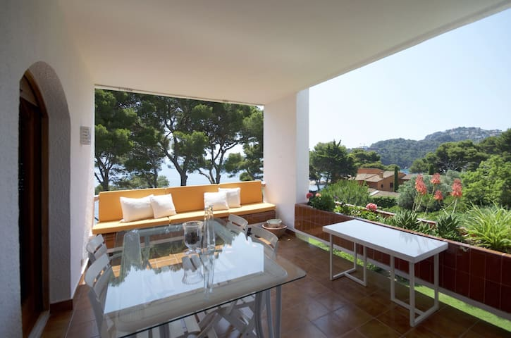 Apartment with fantastic sea-view and direct walking access to the sea and to one of nices
