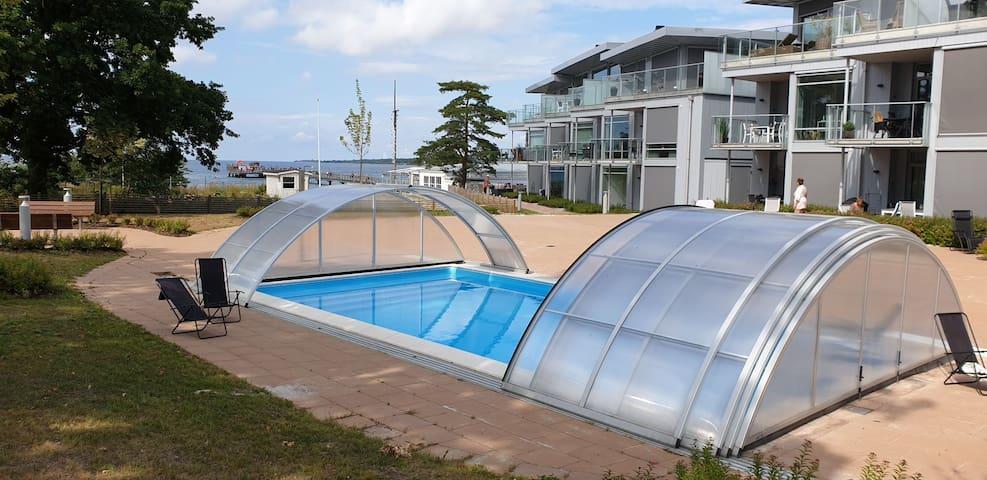 Lägenhet precis vid stranden i Köpingsvik