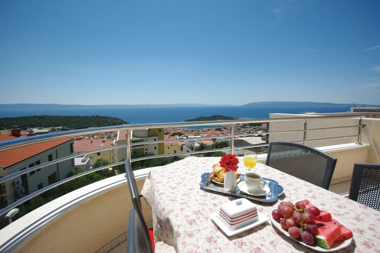 Terrace with sea view and Dalmatian islands