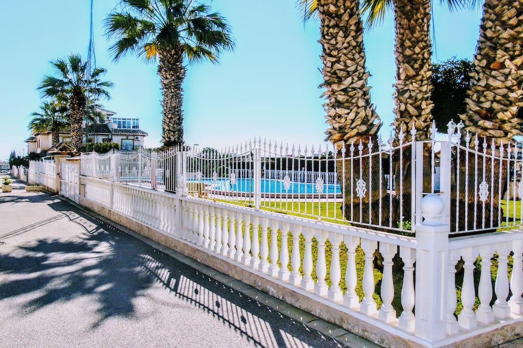 Private Communal Road & Pool