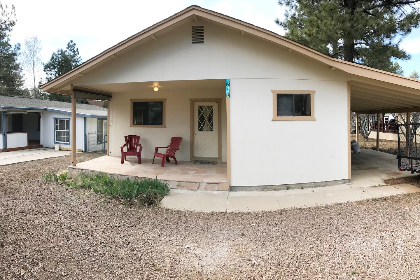 This is the front of our cozy little cabin - April 2019