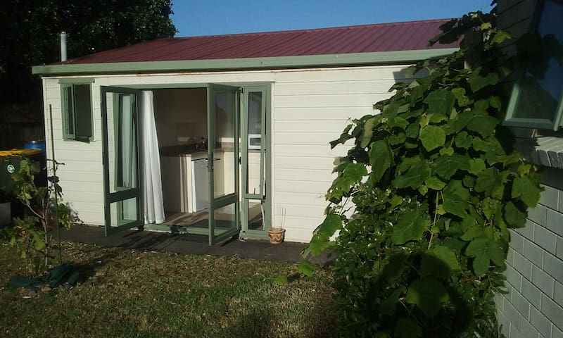 Studio entrance from lawn