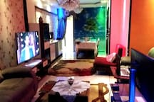 * Reception Full of furniture. * Dinner Table. * Sofa Bed  * 2 Coach * 55 led Smart 3D LG TV * More than 12 Levels of lighting to make sure that you are going to relax whatever was your color is.