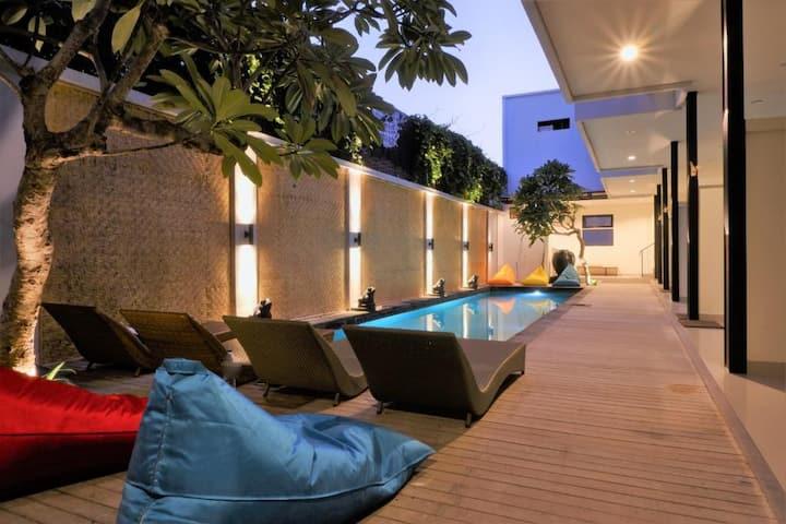 Hotel B52 Gili Air, Room Pool View