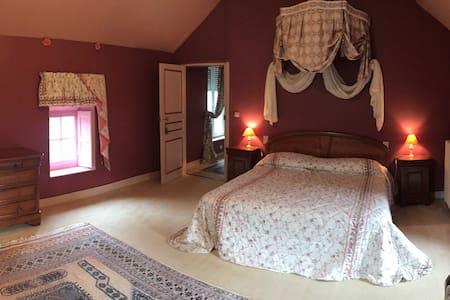 """Château de Montgoger """"Chambre Fuchsia"""" - Saint-Épain - Gästehaus"""