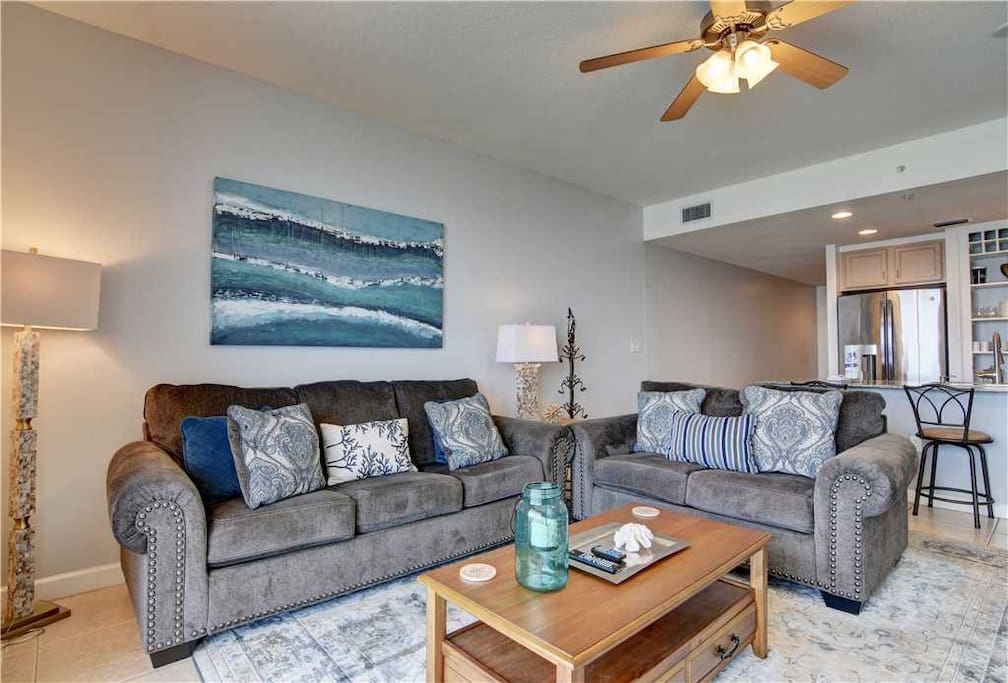 Couch, Furniture, Light Fixture, Art, Painting
