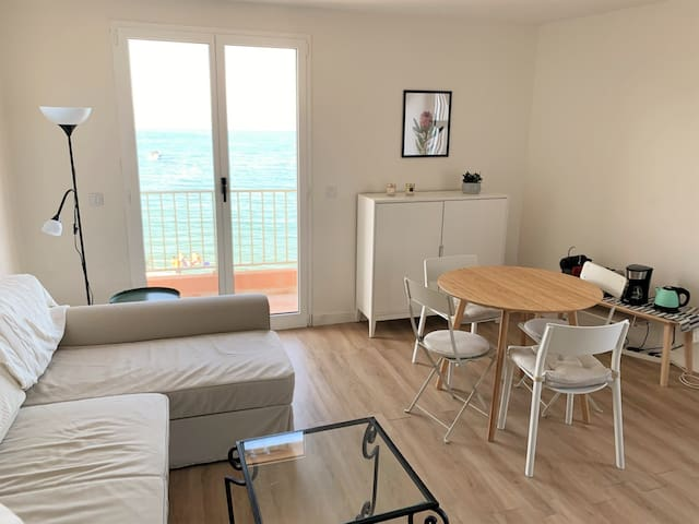 APARTMENT WITH SEA VIEW - CAP D'ANTIBES.