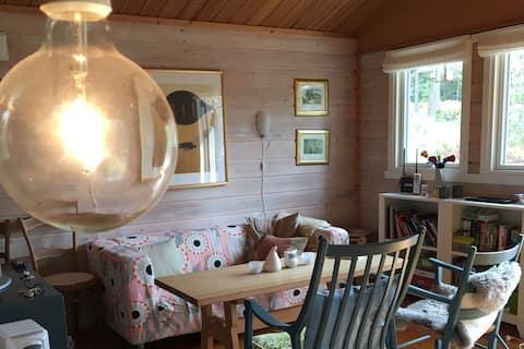 Sjarmerende hytte fra 70-tallet, 45 min fra Oslo