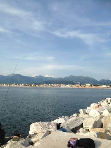 foto dal Molo di Viareggio