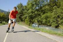 Voie verte 14 km entre Aime et Bourg st Maurice roller, vélo, marche...