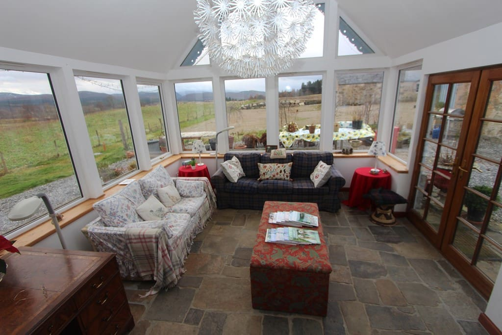 The sunroom is the living space that everyone will enjoy