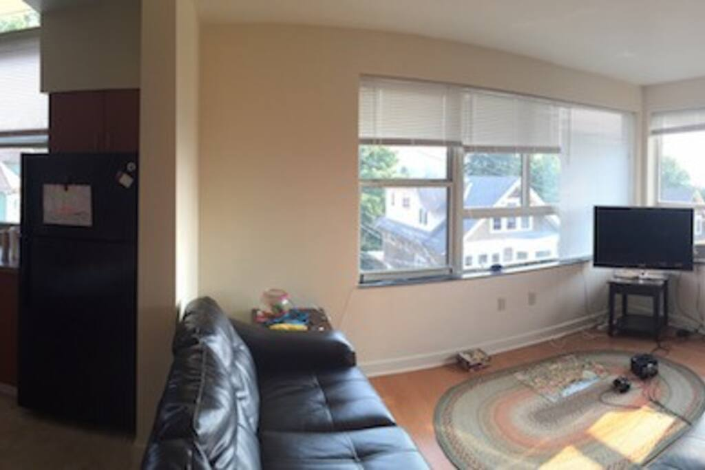 Huge kitchen and living room!