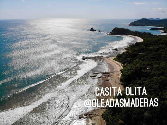 Casita Olita; modern studio+garden @Playa Maderas