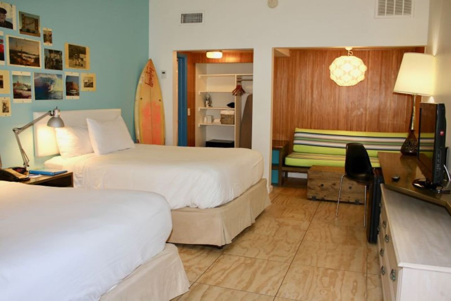 Super comfy unit with 2 Queen beds, available now!