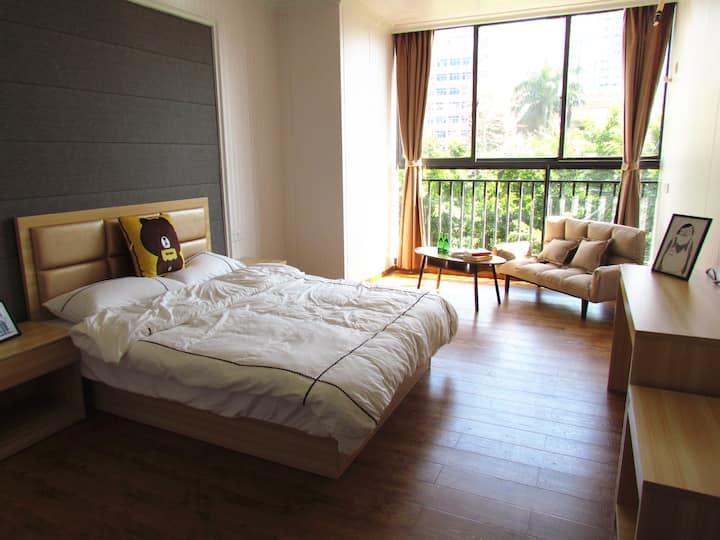全新文艺范公寓/享受旅行的时光/大落地窗阳光房