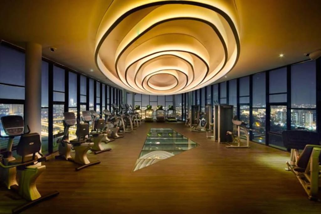 Gym Facility With Amazing View of The City of KL