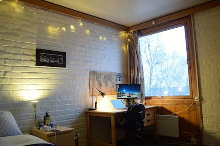 Cozy dorm room. Perfect for short terms. - Trondheim - Yatakhane