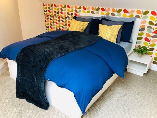 Double Bed on mezzanine