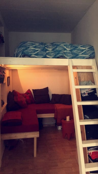 Living room and bed loft