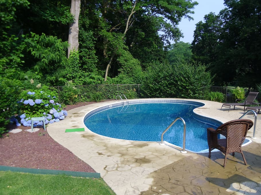 Private pool heated and ready to enjoy June 15-Sept.15