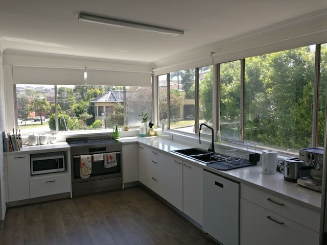 Huge kitchen with all the mod cons including double oven