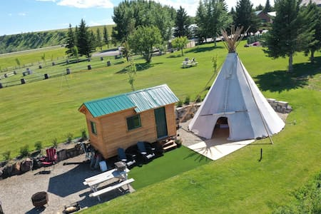 Teepee and tiny house experience