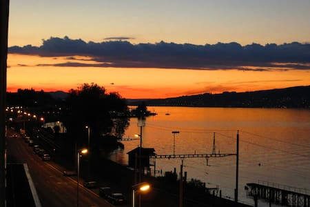 Spacious lake view apartment with sunny balcony - Wädenswil - Apartamento