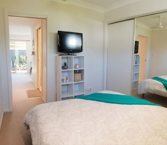 For that extra bit of comfort - there is a TV also in the bedroom with free-to-air channels