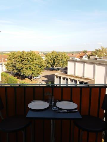 Chaumont, appartement avec vue sur la campagne.