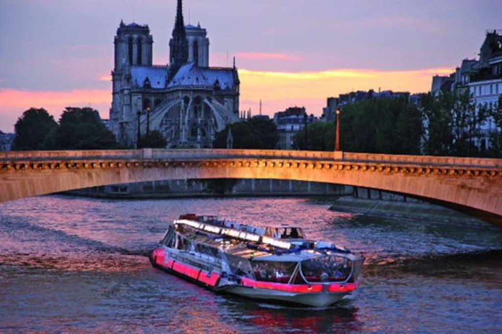 Quai de Seine à 1min à pied