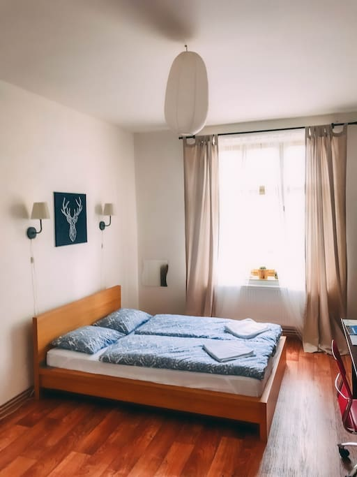 Spacious and cozy room in the city center of Pilsen