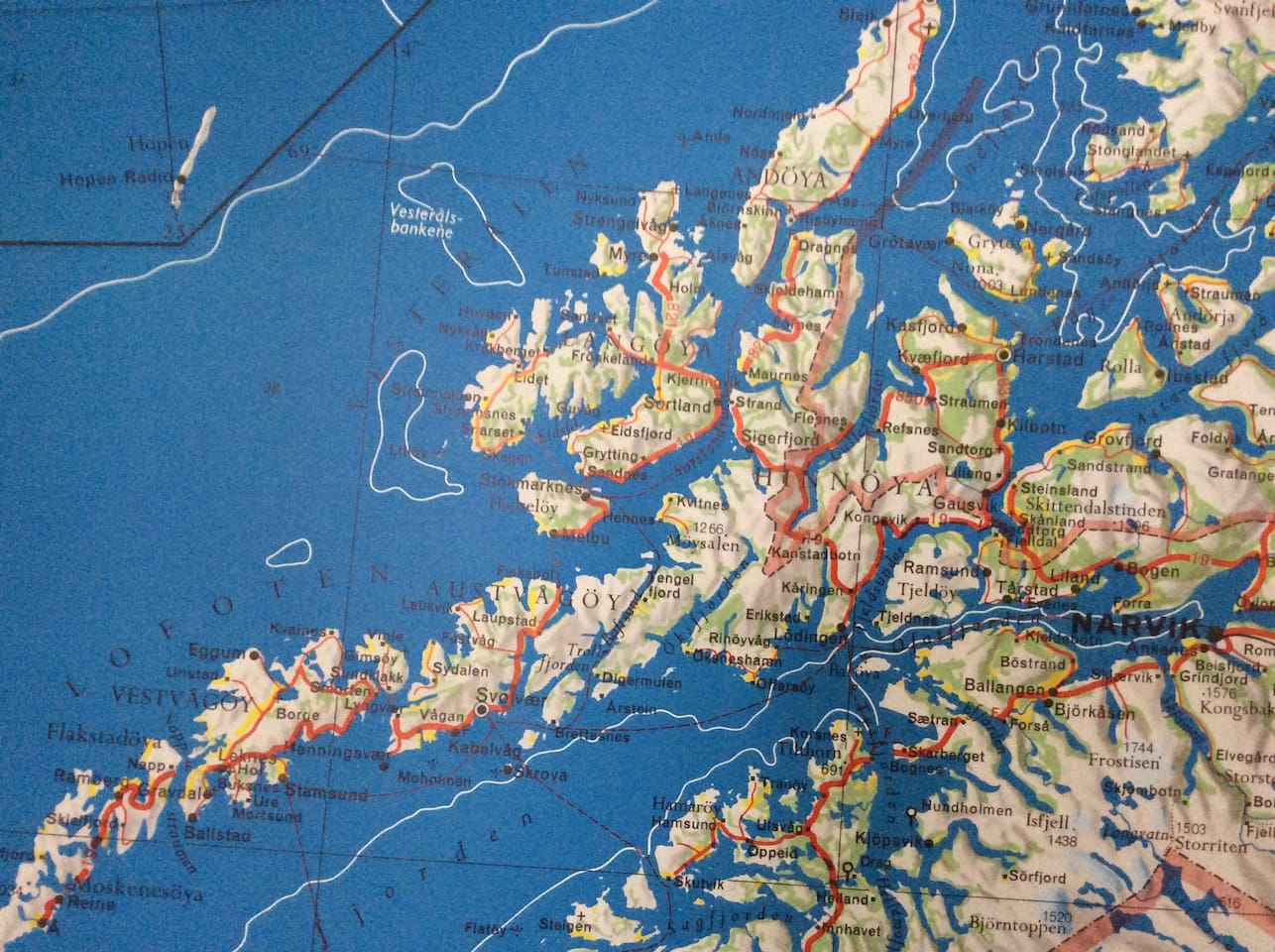 One of our maps in the house. We love maps!