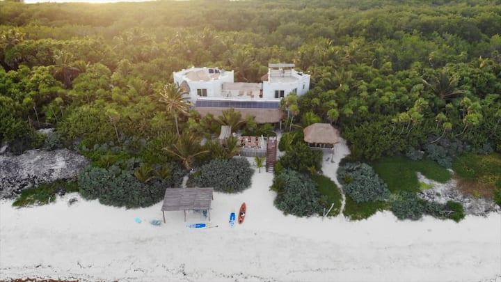 Luxury Beachfront Villa, Sian Ka'an Reserve, Tulum