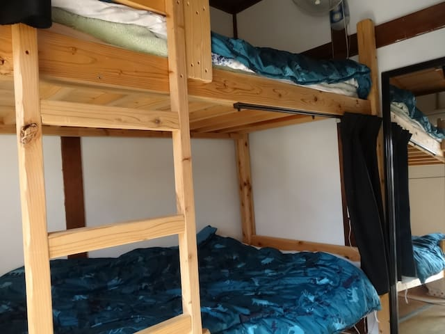Mixed Dormitory for 2 people, Close to Dogo-Onsen!