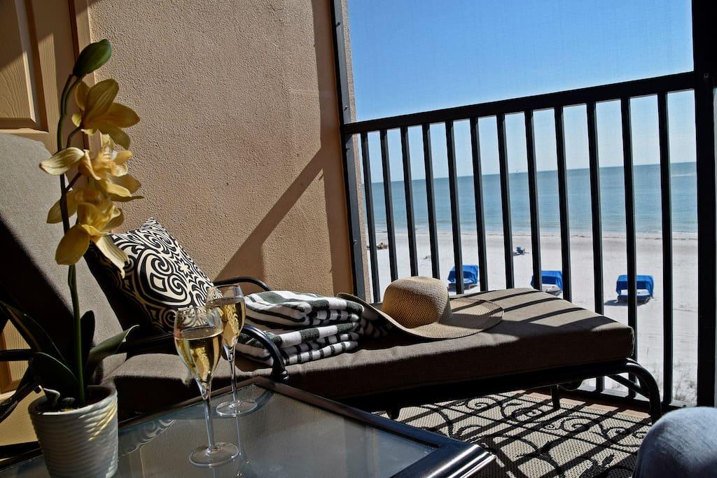 Beautiful Beachfront views from your Balcony