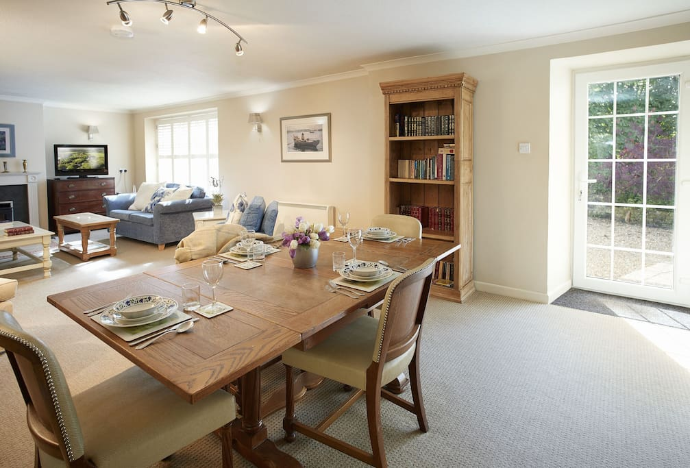 Ground floor: Open plan dining room and sitting room