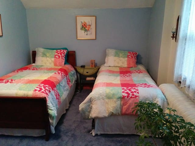 Colorful room with 2 single beds - Upper Darby - Ev