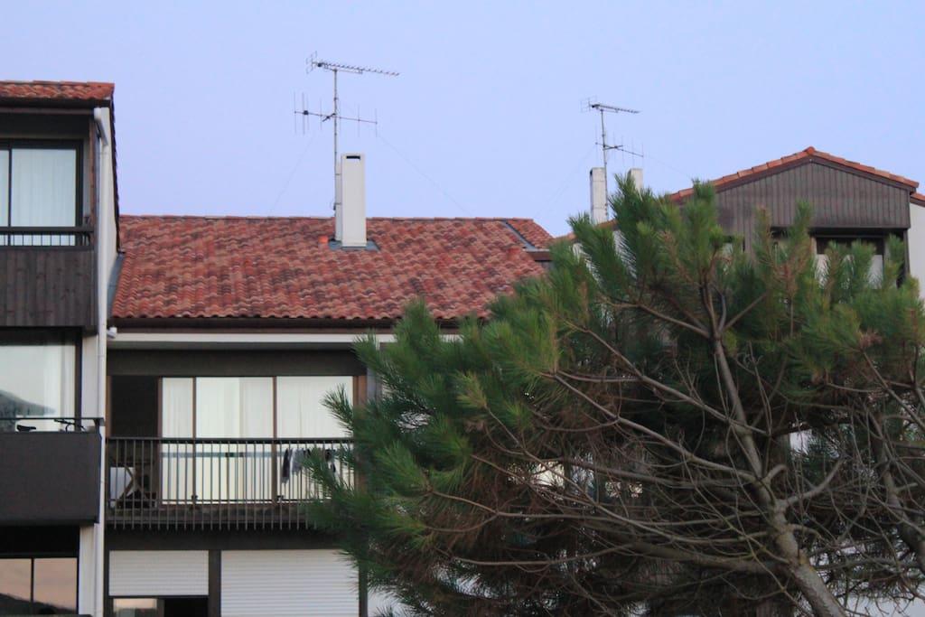 Vue de la plage - 2eme et dernier étage de la petite résidence
