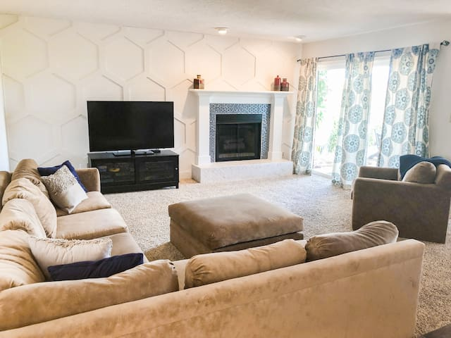 Create memories in this spacious family room.